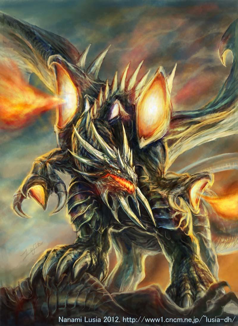 ドラゴンのイラスト: 七海ルシアイラストギャラリー horse and dragons