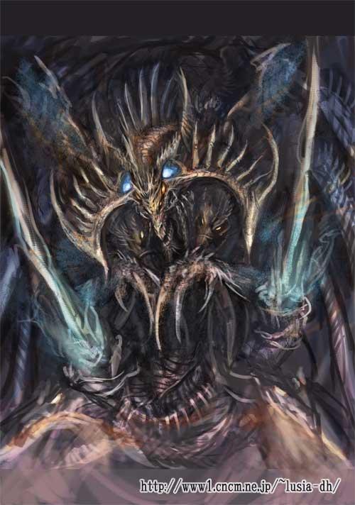 ドラゴンのイラスト途中