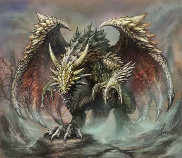 とげとげドラゴンのイラスト