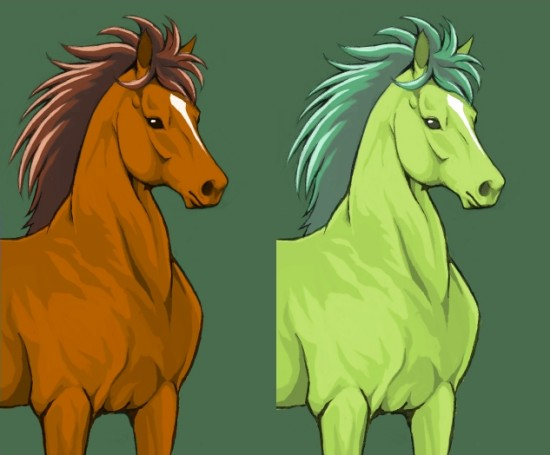馬イラスト 色違い
