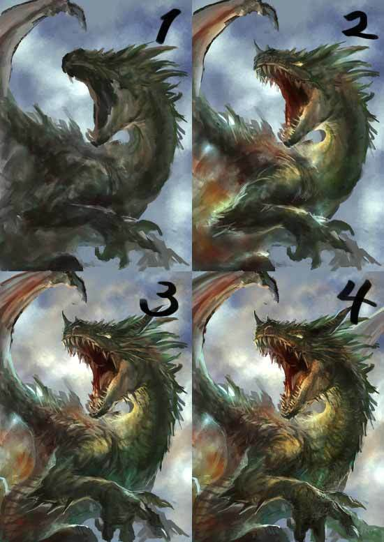 厚塗り系ドラゴンイラストメイキング