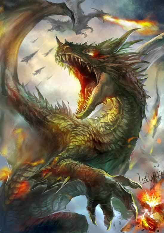 ドラゴンモンスターの描き方03b