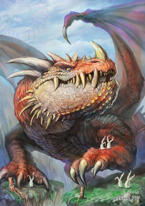 ドラゴンのイラスト・ビッグヘッド