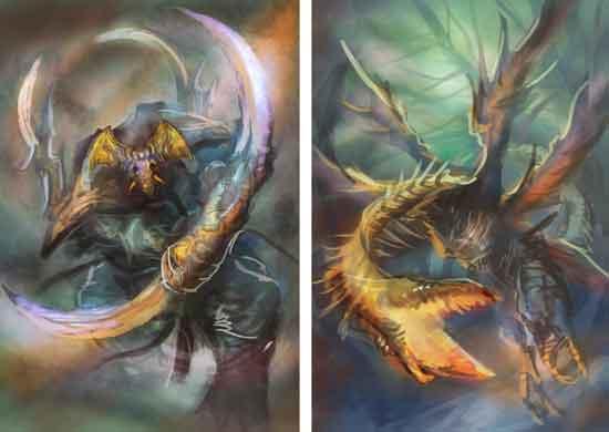 ドラゴン絵ラフ